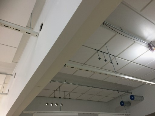 Ceiling installations of the model room