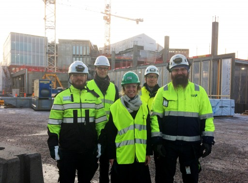 Dean Anna Valtonen visited in the Väre construction site