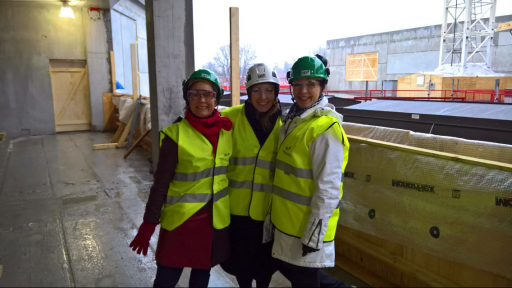 Art team of Aalto Arts visited in the Väre construction site